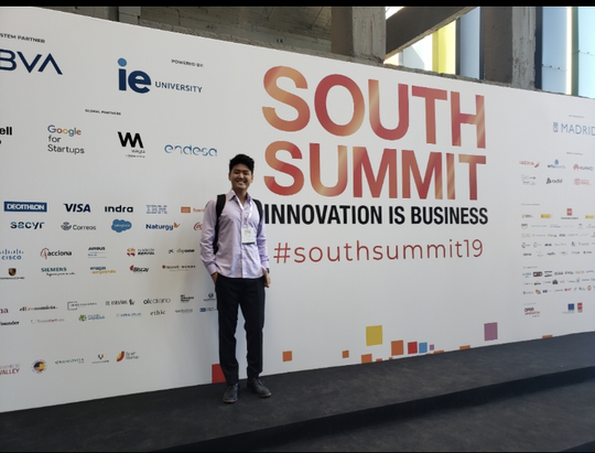 Eun Suk Hong, formerly of New Jersey, attending a startup conference in Madrid, where he lives now. Hong decided to give up DACA and move to Spain to attend graduate school.