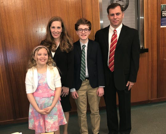 Upper Saddle River Councilwoman Deanne DeFuccio with daughter Catherine, son Joseph, and husband Kevin Canavan.