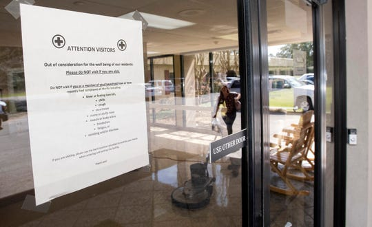 The Santa Ridge Nursing Home in Milton has posted warning signs at the facility's entryways and the front lobby entrance.