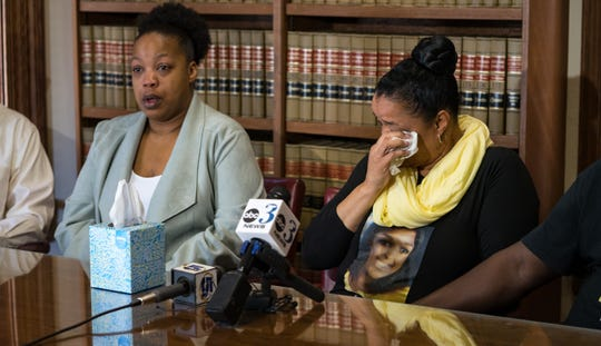 Two families speak at a press conference held on Friday, March 6, 2020, to announce a lawsuit claiming that FHP misidentified the two teenagers, which led to their remains being sent to the wrong funeral homes and one of the girl's organs being harvested, despite the fact that she wasn't an organ donor.