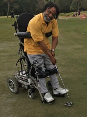 Patrick Peterson, a disabled veteran, is learning to play golf with help from the PGA Hope program.