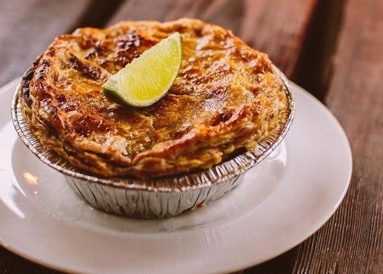 The green chile pot pie at Phoenix Public Market Cafe.