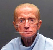 This photo released on Jan. 14, 2018, by the Tucson Police Department shows Robert Francis Krebs, who has a decades-long criminal record for stealing from banks. The 82-year-old was convicted March 4, 2020, on a federal armed bank robbery charge in the January 2018 holdup of a credit union in Tucson, Ariz. (Tucson Police Department via AP, File)