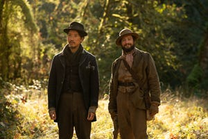 """Orion Lee (left) as King-Lu and John Magaro as Cookie in director Kelly Reichardt's """"First Cow."""""""
