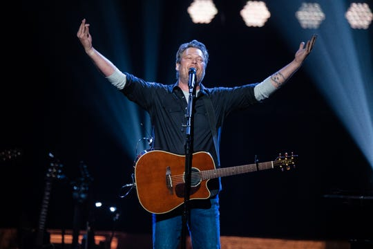 Blake Shelton brings the hits at Gila River Arena in Glendale on March 5, 2020.