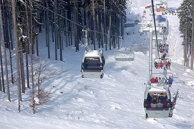 Arizona Snowbowl plans to install a high-speed combination ski lift like this one in Velka Raca, Slovakia.