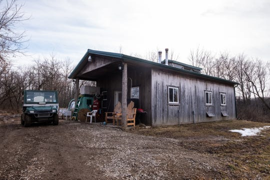 The sugar house at Falecki Farms in Richmond Township holds several different-sized evaporators and other equipment used to produce maple syrup. The building was added to the farm in 2015.