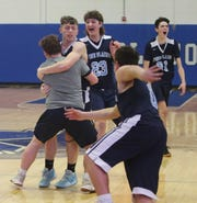 Action from the Section 9 class C boys basketball championship between Pine Plains and Millbrook in Middletown on March 5, 2020.