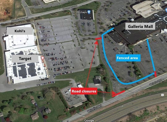 A mini-casino construction project at York Galleria will cause major traffic headaches for customers who shop at the mall and surrounding stores.