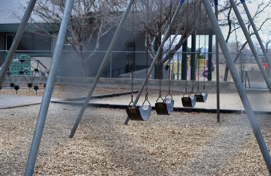 The playground at Huffaker Elementary is empty on March 6, 2020 after the Washoe County Health District shut down the school after students had flu-like symptoms and coronavirus was suspected.
