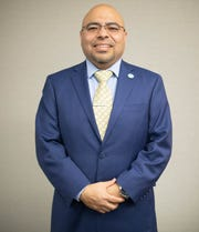 Oscar Moreno Gilson poses for a photo. Gilson will begin as the new Woodburn School District superintendent in July, 2020.