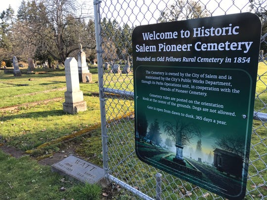 Historic Salem Pioneer Cemetery was established in 1854 on the former donation land claim of Methodist missionary David Leslie.