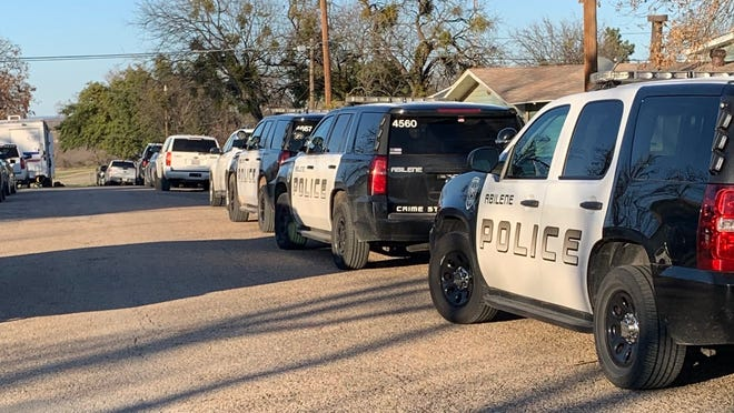 Police in Ballinger, Texas respond to a hostage situation on March 5, 2020