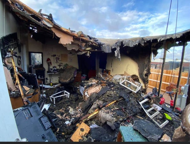 A Grape Creek family lost nearly everything in a fire on March 4, 2020.