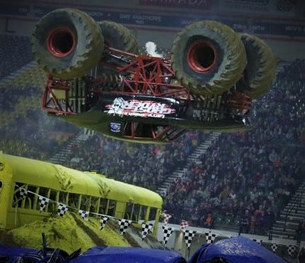 Ghost Ryder Backflipa from No Limit Monster Trucks.
