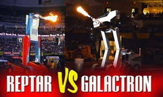 Participants at the San Angelo show will see the ultimate battle between Reptar andGalactron.