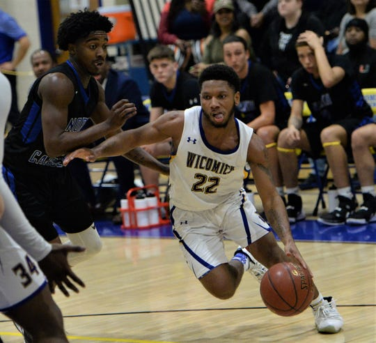 Wicomico's Ronnie Satchell finds a lane against North Caroline on Thursday, March 5, 2020.