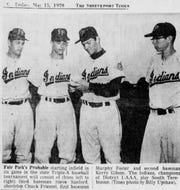 Members of the 1970 Fair Park baseball team that won the AAA state title. Steve Sanford, Chuck Friemel, Murphy Foster and Kerry Gibson pictured.