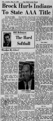 Story written by Nico Van Thyn in 1970 about Fair Park winning the AAA State Baseball title.