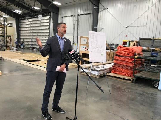 Sioux Falls Mayor Paul TenHaken discusses plans to build a subdivision of 26 affordable twin homes. TenHaken joined Habitat for Humanity of the Greater Sioux Falls area in announcing plans for the Millard Acres development.