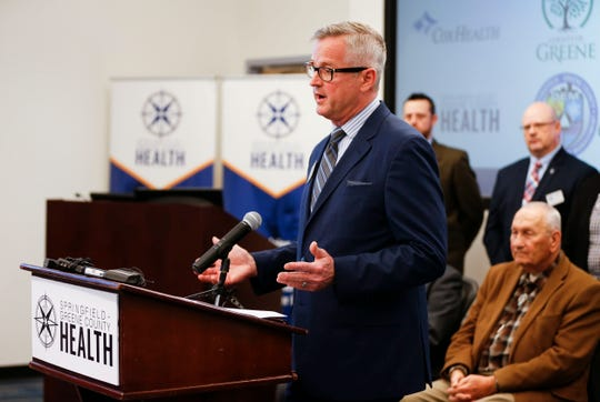 Springfield-Greene County Health Department Director Clay Goddard speaks about the coronavirus and the health departments preparedness at a press conference on Friday, March 6, 2020.