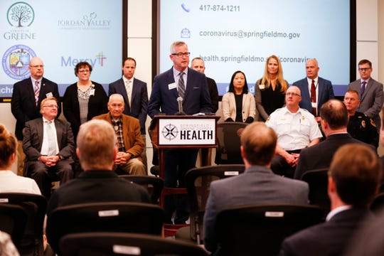 Springfield-Greene County Health Department Director Clay Goddard speaks about the coronavirus and the health department's preparedness at a press conference on Friday, March 6, 2020.