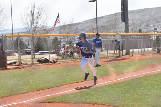 Dixie baseball run ruled Bonneville 11-1 in six innings on Friday, March 6th, 2020.