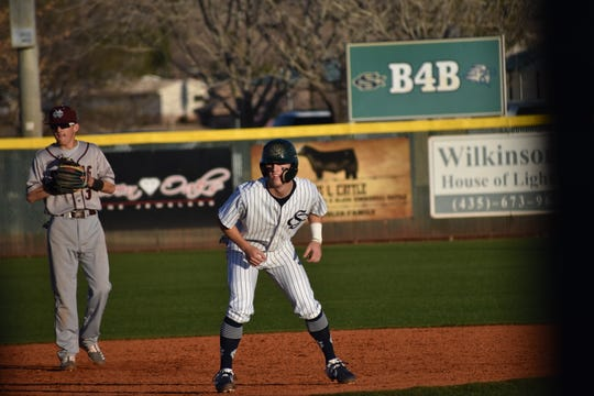 Snow Canyon junior Landon Frei has started his 2020 season with two home runs and nine RBI.
