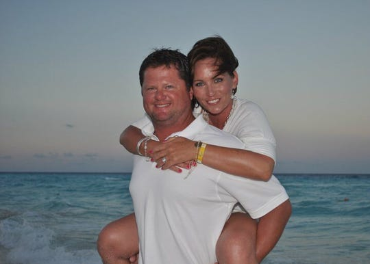 Lora Cobble and husband Mike. Lora, an attorney and mother of two, recently died from pancreatic cancer.