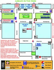 Here's a map that shows where the accessible viewing areas will be for Springtime Tallahassee's Grand Parade.