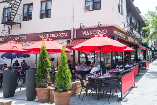 Dining alfresco is popular at Via Forno on Garth Road in Scarsdale. The restaurant will be adding 40 additional outdoor seats by April 1.