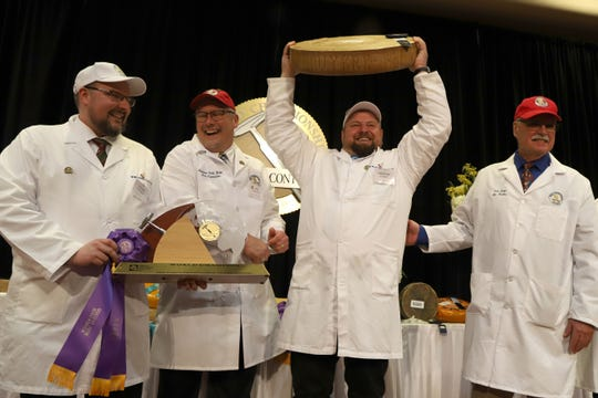 Gourmino Le Gruyère AOP, made by Michael Spycher of Mountain Dairy Fritzenhaus for Gourmino AG in Switzerland bested a record-breaking 3,667 entries in the World Championship Cheese Contest on March 5, 2020, in Madison.