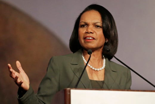 <strong>22. Condoleezza Rice&nbsp; &nbsp; &nbsp; </strong><br /> Occupation: Political Scientist, Diplomat<br /> Condoleezza Rice has been a trailblazer both as a woman and an African American. She began her career teaching political science at Stanford University and became the first woman and first African American provost there. Rice then broke ground as she became President George W. Bush&rsquo;s national security advisor and later secretary of state. In 2012, she became one of the first female members of Augusta National Golf Club, an organization that had excluded women for 80 years. The Girl Scouts blog describes her as &ldquo;a fearless leader who started her leadership journey in Girl Scouting.&rdquo;