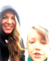 In this Sept. 8, 2019, photo released by the Federal Bureau of Investigation, is Lori Vallow and her 7-year-old son JJ Vallow in Yellowstone National Park.