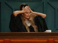 Judge Chrissy Teigen presides on Quibi's 'Chrissy's Court.'