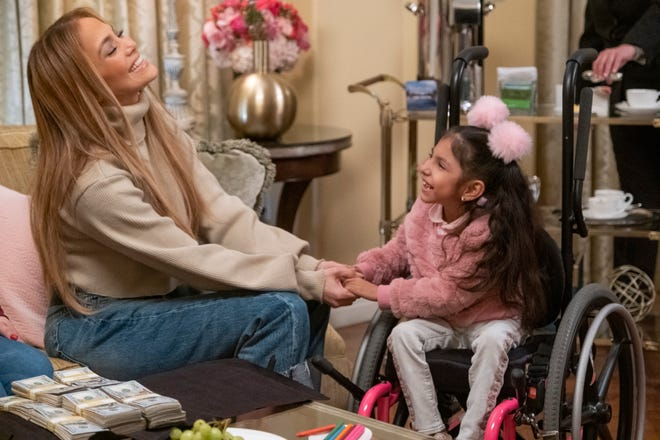 Jennifer Lopez, left, produces and appears in 'Thanks a Million,' an inspirational, unscripted series that is part of Quibi's program lineup when the streaming service launches April 6.