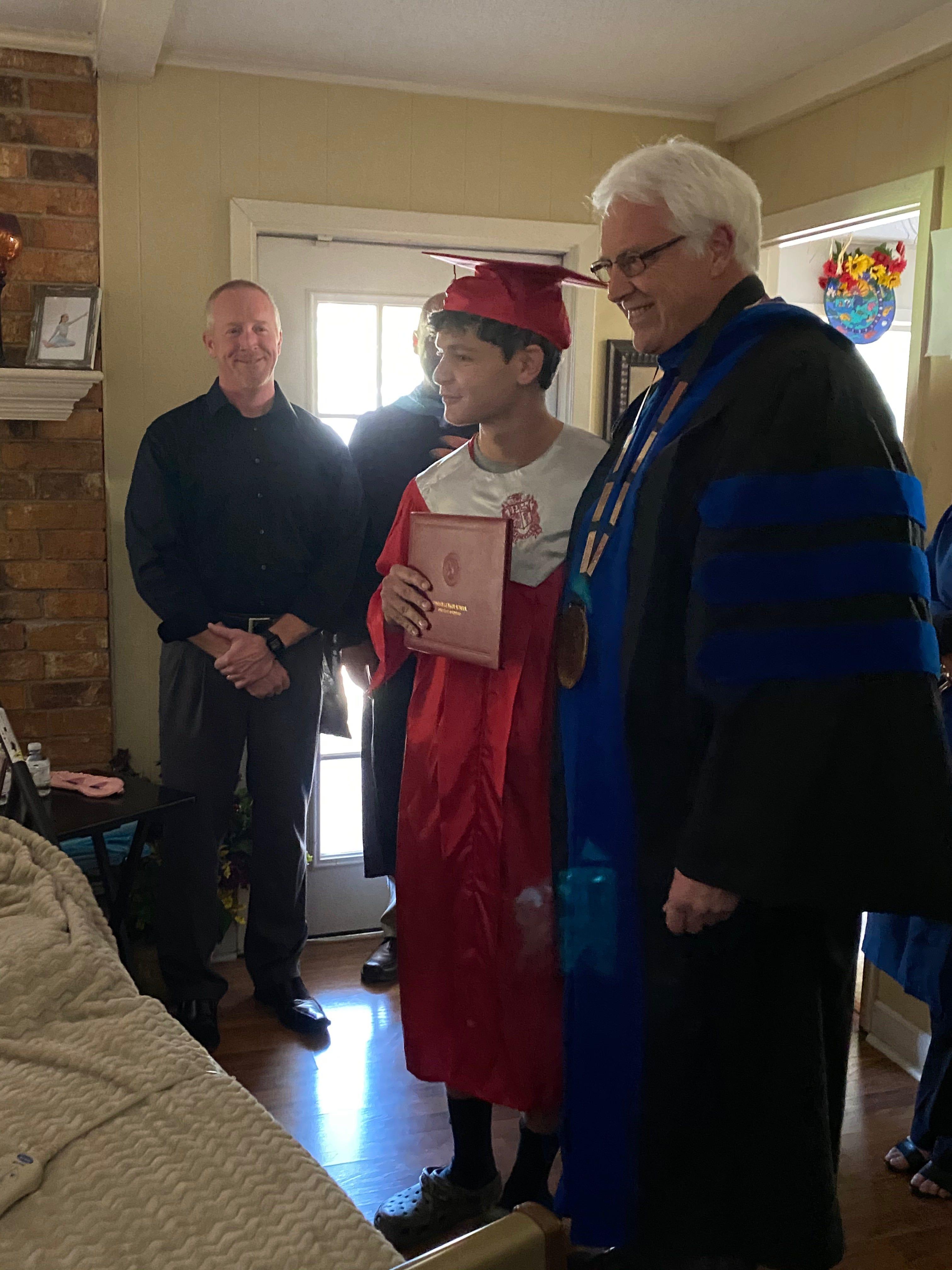 She got her wish : Louisiana high school helps terminally ill mom see son graduate