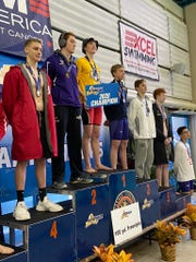 Eli LanFear of Chenango Valley is the NYSPHSAA 100 freestyle champion.