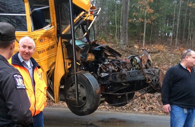 The driver of a Union-Endicott school bus was hospitalized after crashing into a tree Friday, March 6 in the Town of Owego.
