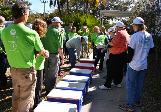 On March 7, Florida Power & Light Company volunteers participated in their annual Power to Care Day. Volunteers worked alongside Aging Matters in Brevard, which oversees Meals on Wheels deliveries countywide, to seniors in the Melbourne area. Meals are normally delivered only on weekdays.