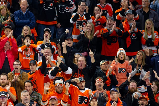 Fans at Wells Fargo Center have had reason to be happier this season. The Flyers are one of the best teams on home ice in the NHL.