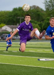 Midfield Bobby Harris is one of a handful of players expected to return to Clawson-based Oakland County FC, which is making the jump to the fourth-tier USL2 this season after playing in the fifth-tier UPSL.