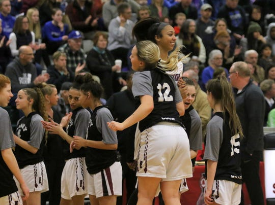 Elmira was a 70-50 winner over Horseheads in the Section 4 Class AA girls basketball championship game March 6, 2020 at Elmira High School.