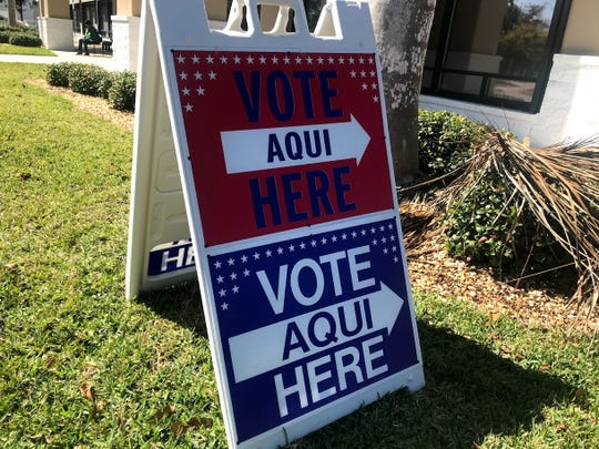 First day of early voting in Lee and Collier counties March 7, 2020.