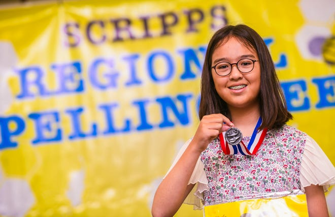 Returning champion, Rina Olsen, proved herself once again as queen bee after out spelling 54 other students, representing schools from the Republic of Palau, Commonwealth of Northern Mariana Islands and Guam, competing in the 48th Annual Scripps Regional Spelling Bee at the Hotel Nikko Guam in Tumon on Saturday, March 7, 2020.