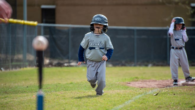 The Lafayette Little League held its opening day with teams playing all day at Broadmoor Park Saturday, Mar. 7, 2020.
