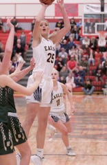 Whitney Sollom is the first Hartland girl to make The Associated Press first-team all-state basketball team.