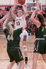 Madi Moyer is one of three senior captains for a Hartland basketball team that reached the regional final.