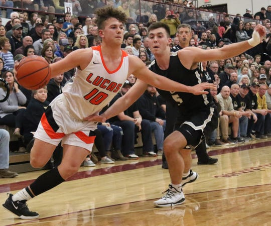 Lucas' Logan Niswander picked up his game in the second half of the Cubs' district championship overtime win over South Central on Friday night.