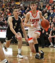 Lucas' Riley Gossom wasn't on the gridiron this fall. Instead, he was working on his game on the hardwood and it was beneficial as he led the Cubs in scoring with more than 20 points a game.